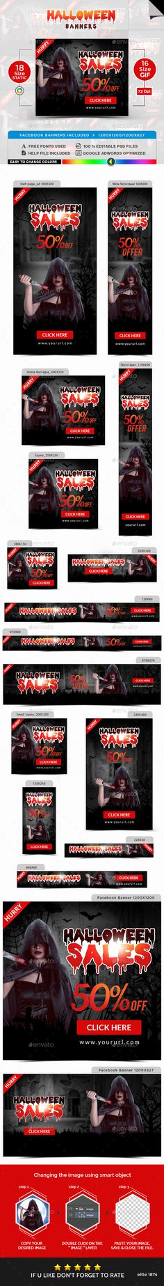 Halloween Banners - Animated and Static Banners