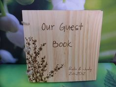 Rustic Wooden Guest Book Personalized by WildFireFlies on Etsy, $30.00