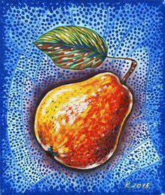 Pear, fruit, still life, tempera, Artist, Original Painting Art, Illustration #IllustrationArt  Natalia Komisarova   NatalieStorePainting     You can also find me on:    EBAY: http://www.ebay.com/usr/natalie_komisarova.art    ETSY: https://www.etsy.com/shop/NatalieStorePainting    FACEBOOK: https://www.facebook.com/komisarova.art    #NataliePaintings #Natalie #Artist