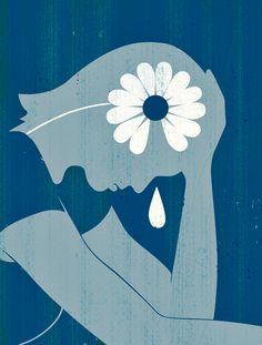 Joey Guidone - Depression Disease. Mental disease, Mental disorder, Sadness, Brain, Editorial illustration, Concept art