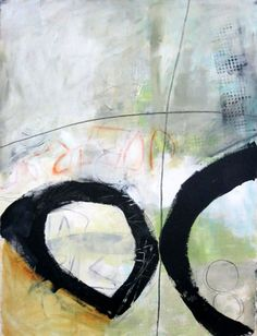 """Painting Over, and Over #2. 22""""x30"""