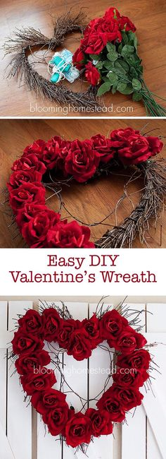 This Valentine's wreath is so pretty.