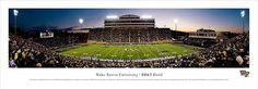 Wake Forest University Demon Deacons - BB Field Panorama $29.95