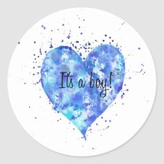 Shop It's a boy! classic round sticker created by AninesArt. Create Your Own, Create Yourself, Round Stickers, Different Shapes, Baby Boy Shower, Custom Stickers, Holiday Cards, Activities For Kids, Diy Projects