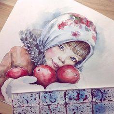 Watercolorist: @bulgakova.lina #waterblog #акварель #aquarelle #painting #drawing #art #artist #artwork #painting #illustration #watercolor #aquarela