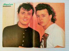 Tears for Fears TA Leontarakia Double Side Mini Poster 1980's Greek Magazine | eBay