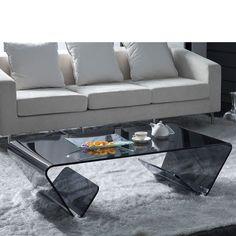 Mesa de centro GLASS TRAPEZZO con revistero - 223,61€