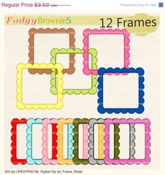 97eef3192a9 Items similar to ON SALE  Clipart frame