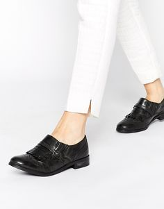 Ravel Kiltie Buckle Leather Flat Shoes