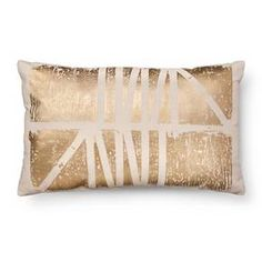 gold foil oblong decorative pillow white room essentials target - Decorative Pillows Target