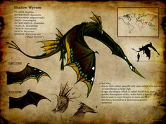 "Dragon ID card / Drago, carta d'identità - ""Wyvernus ater"", Art by Culpeo-Fox on deviantART"