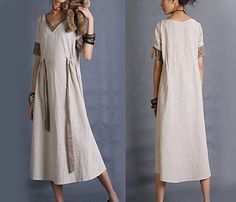 Rain embroidered long dress Q1003 by idea2lifestyle on Etsy