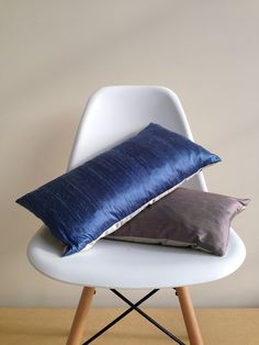 "2 Silk/ Satin Lombard Pillow Covers, throw pillows, couch pillows, home decor, decorative pillow, 20"" x 12"" on Etsy, £37.00"