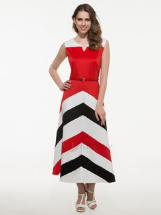 Tidebuy.com Offers High Quality Chic Stripe Sleeveless Maxi Dress, We have more styles for Maxi Dresses