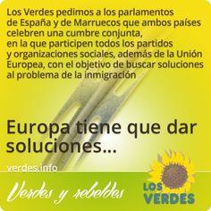 Los Verdes piden cumbre hispano-marroquí con UE sobre inmigración