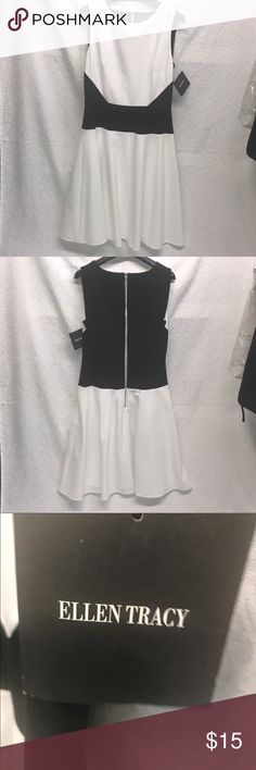 💥REDUCED💥Ellen Tracy black and white dress Cotton dress from Ellen Tracy. Never worn. NWT. Ellen Tracy Dresses