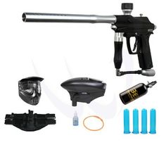 Azodin KAOS Paintball Marker Gun - Black Silver - WaveToGo Exclusive HPA N2 Player Package by Azodin. $187.95. Included 7 items in this package: 1. Azodin KAOS Paintball Marker Gun - Black Silver - WaveToGo Exclusive! (Description: Semi-auto, .68 caliber , Feather striker system is 30% lighter than the traditional striker design, Top cocking pull pin, Double ball detents, Gas thru Foregrip, Low rise twist lock ION/Impulse thread feed neck, Aluminum grip frame wi...