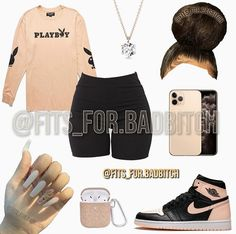 Baddie Outfits Casual, Boujee Outfits, Cute Lazy Outfits, Casual School Outfits, Cute Swag Outfits, Teen Fashion Outfits, Dope Outfits, Girly Outfits, Pretty Outfits