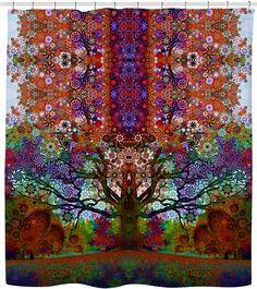 Trip Tree Shower Curtain