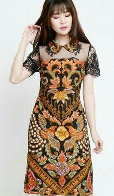 The best batik motif. Made perfectly for ladies. Model Dress Batik, Batik Dress, Patchwork Dress, Batik Blazer, Blouse Batik, Simple Dresses, Cute Dresses, Classic Dresses, Dress Batik Kombinasi