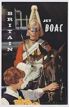 Britain Jet BOAC- fantastic vintage poster!