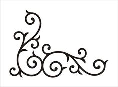 Scroll Stencil Patterns - ClipArt Best