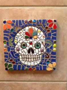 Day of the Dead mosaic panel by NM artist Susanne Baca