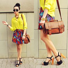 Colorful skirt (by Pam S) http://lookbook.nu/look/3596773-colorful-skirt