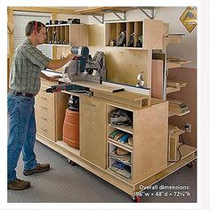 Woodcraft Magazine - Woodworking Project Paper Plan to Build.-Woodcraft Magazine – Woodworking Project Paper Plan to Build Crosscut Station and Lumber Rack Woodworking Project Paper Plan to Build Crosscut Station and Lumber Rack - Workbench Plans, Woodworking Workbench, Woodworking Furniture, Fine Woodworking, Woodworking Crafts, Wood Furniture, Woodworking Basics, Woodworking Workshop, Youtube Woodworking