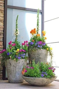 Garden containers - 90 Stunning Spring Garden Ideas for Front Yard and Backyard Landscaping – Garden containers Small Front Yard Landscaping, Front Yard Gardens, Landscaping Jobs, Patio Gardens, Landscaping Design, Small Front Yards, Inexpensive Landscaping, Florida Landscaping, Luxury Landscaping