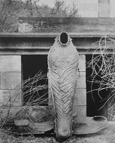 Iron coffin found during Old Catholic Cemetery reinterrments, 1896 in Wheeling, WV.