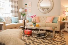 colorful living room | Cuckoo 4 Design