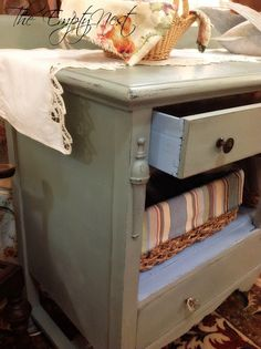 Coco & Duck Egg mixed together.  The Empty Nest: ~ The fun of mixing colors with Chalk Paint® by Annie Sloan ~