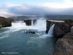 Waterfall of the Gods - Goðafoss (Godafoss). Iceland.