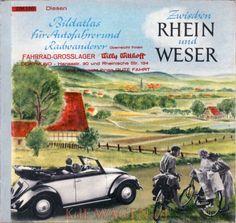 VW - Zwischen Rhein und Weser. Bildatlas für Autofahrer und Radwanderer - Walther Voigt - [10131]-1