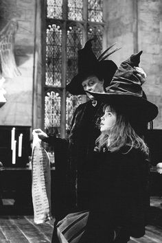 Hermione and the Sorting Hat.