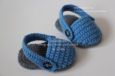 Sale. Crochet baby sandals, baby slippers, summer shoes, boots,  blue, grey, gray,  gift, READY TO SHIP, size 3-6 months