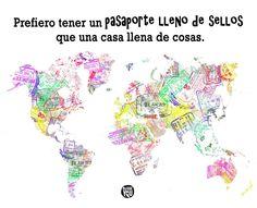 Pasaporte lleno de sellos