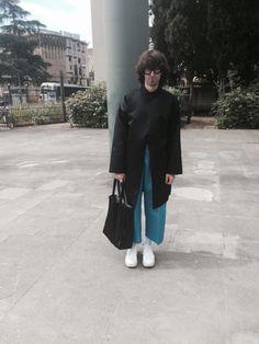 Manos Samartzis  -Blue light coat -Leopolda - Florence