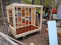 A tiny house/study pod for an NYU Professor….on wheels Garden Studio, Backyard Studio, Backyard Projects, Outdoor Projects, Patio Roof Covers, Backyard Sheds, Pergola Lighting, Pergola Kits, Pergola Ideas