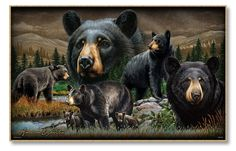 Black Bear Collage Graphic Art