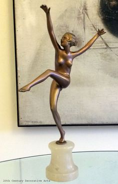 A large Art Deco gilded spelter figure by Lorenzl, Austria circa 1930s.