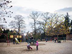 Dětské hřiště Grébovka / Když nevyjde počasí, variantou je kavárna Králík v rádiu