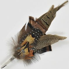 Hunting Hat Pin - Susan Hunter Traditional European Hunting Hat Feather Pins