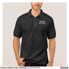 Notary Public Pride Colorado Polo Shirt