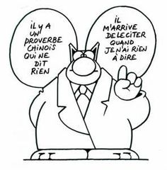 GELUCK Philippe Le Chat : Proverbe Chinois