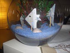 Die Bastel-Elfe, alles rund ums Basteln - Kleines Aquarium mit Geldscheinfischen