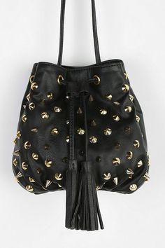 Deena & Ozzy Studded Mini Bucket Bag #urbanoutfitters