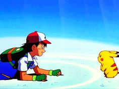 Pikachu and Ash [GIF]