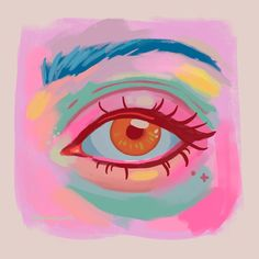 Gouache Eye 1 Art Print by samsilversmith - X-Small Gouche Painting, Posca Art, Arte Sketchbook, Mini Canvas Art, Cool Art Drawings, Art Journal Inspiration, Watercolor Paintings, Watercolor Eyes, Cute Art